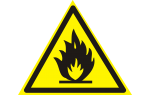 Пластик Фотолюм. (W-01) Пожароопасно. Легковоспламеняющиеся вещества (Распродажа. На складе 7 шт.)