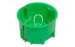 Коробка для подштукатурного монтажа в гипсокартоновые и полые стены (зеленый)(44663)
